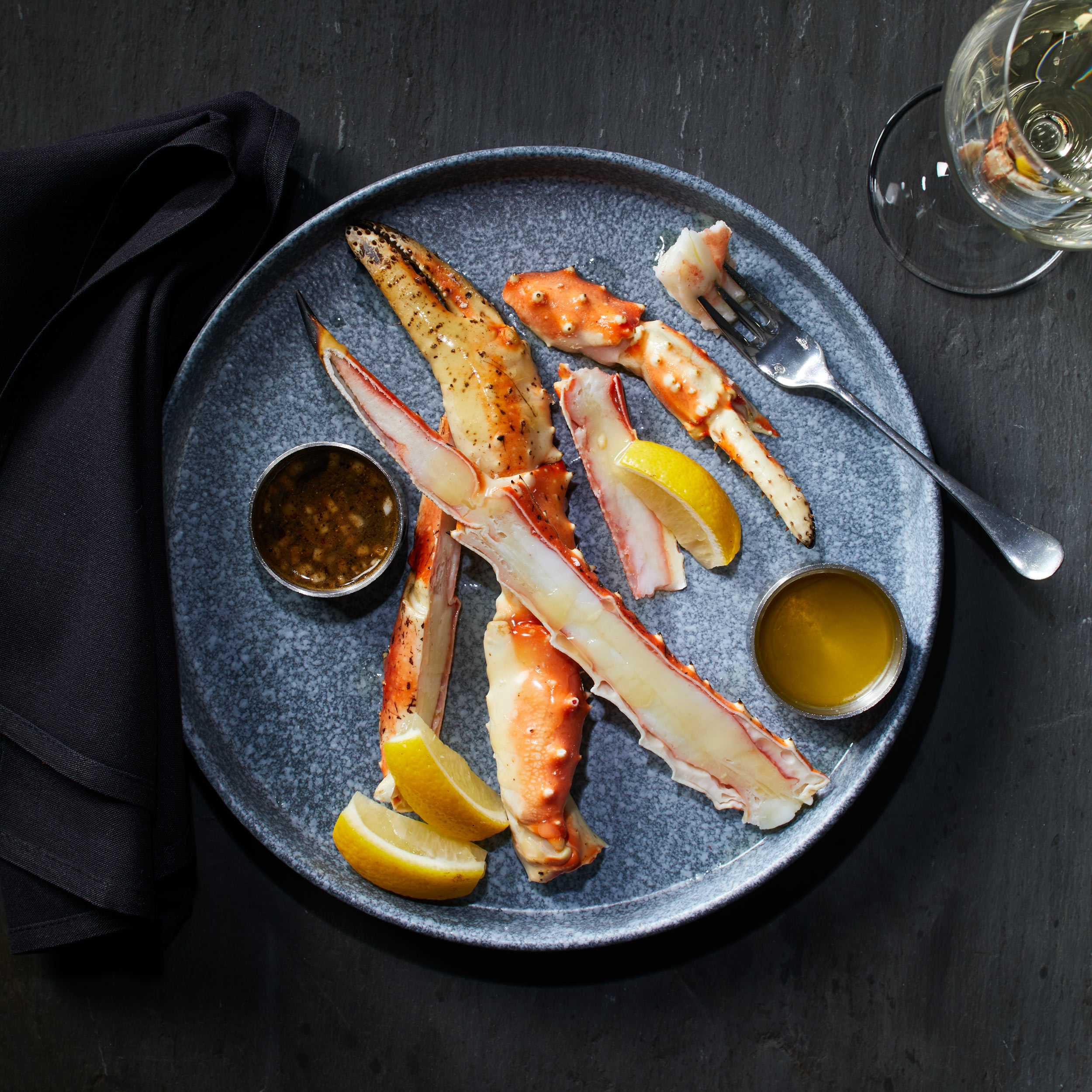 King Crab Legs photo by Chris Kessler Photography.  Chris Kessler is a freelance Photographer based in Milwaukee Wisconsin. Specializing in Food photography and portraiture.