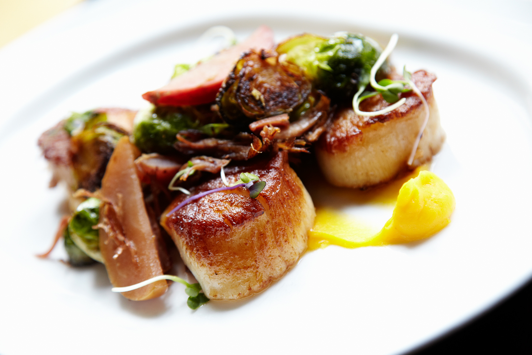 Seared Scallops photo by Chris Kessler Photography.  Chris Kessler is a freelance Photographer based in Milwaukee Wisconsin. Specializing in Food photography and portraiture.