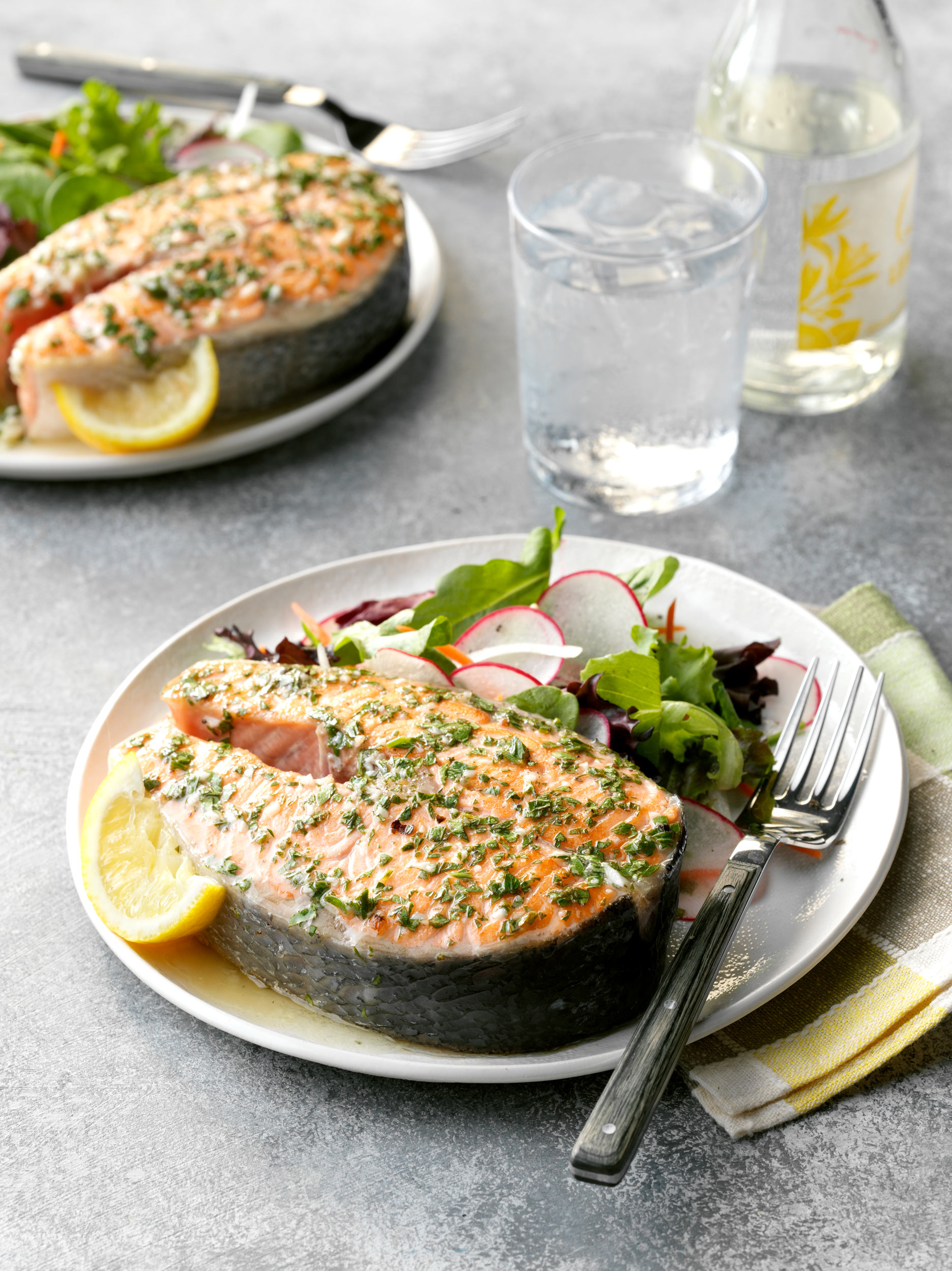 Lemon Garlic Salmon Steaks photo by Chris Kessler Photography.  Chris Kessler is a freelance Photographer based in Milwaukee Wisconsin. Specializing in Food photography and portraiture.