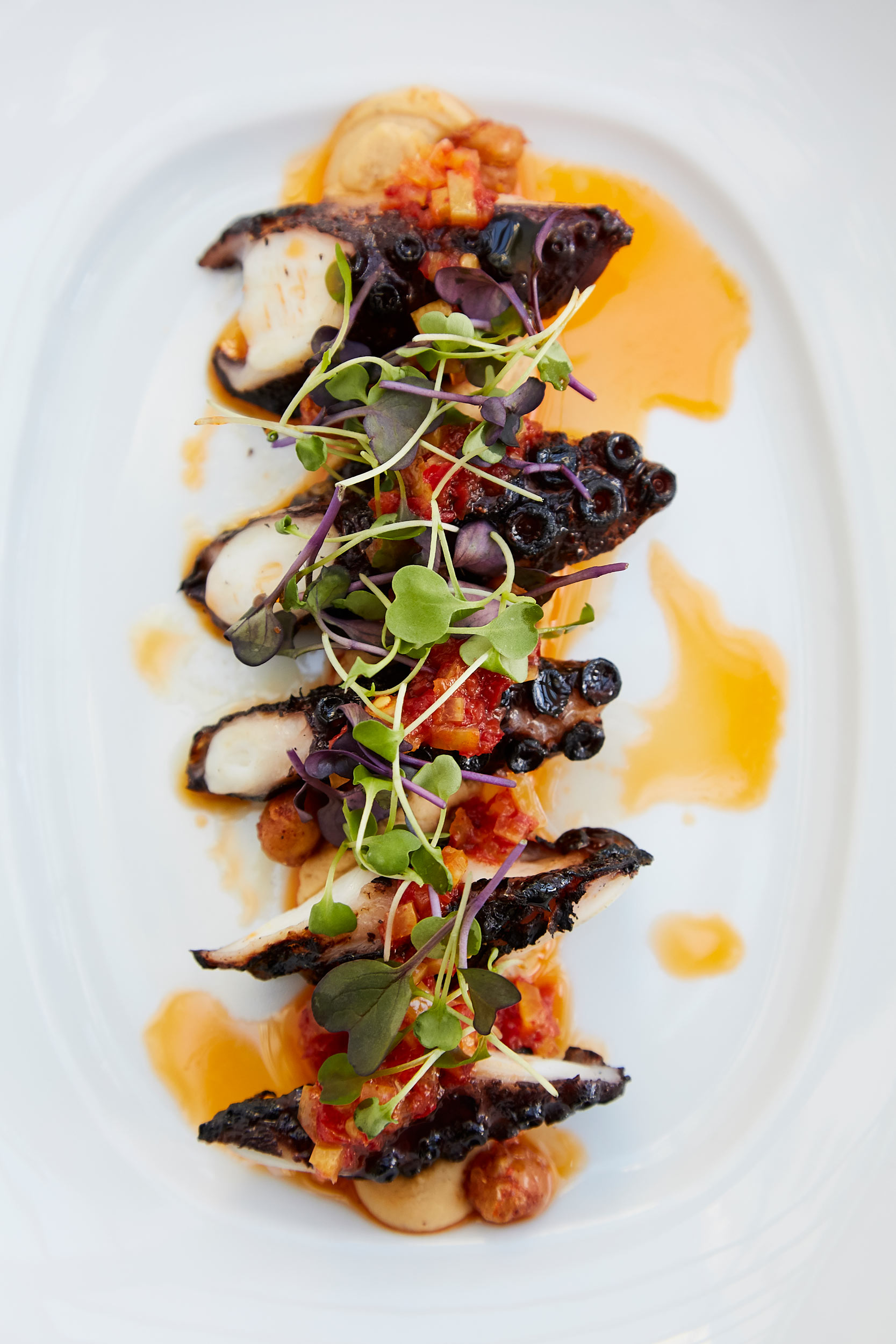 Charred Spanish Octopus photo by Chris Kessler Photography.  Chris Kessler is a freelance Photographer based in Milwaukee Wisconsin. Specializing in Food photography and portraiture.