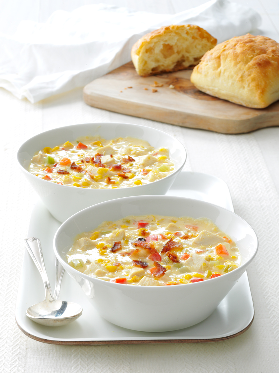 Chicken Corn Chowder photo by Chris Kessler Photography.  Chris Kessler is a freelance Photographer based in Milwaukee Wisconsin. Specializing in Food photography and portraiture.